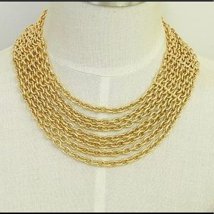 Chanel gold plated chain necklace